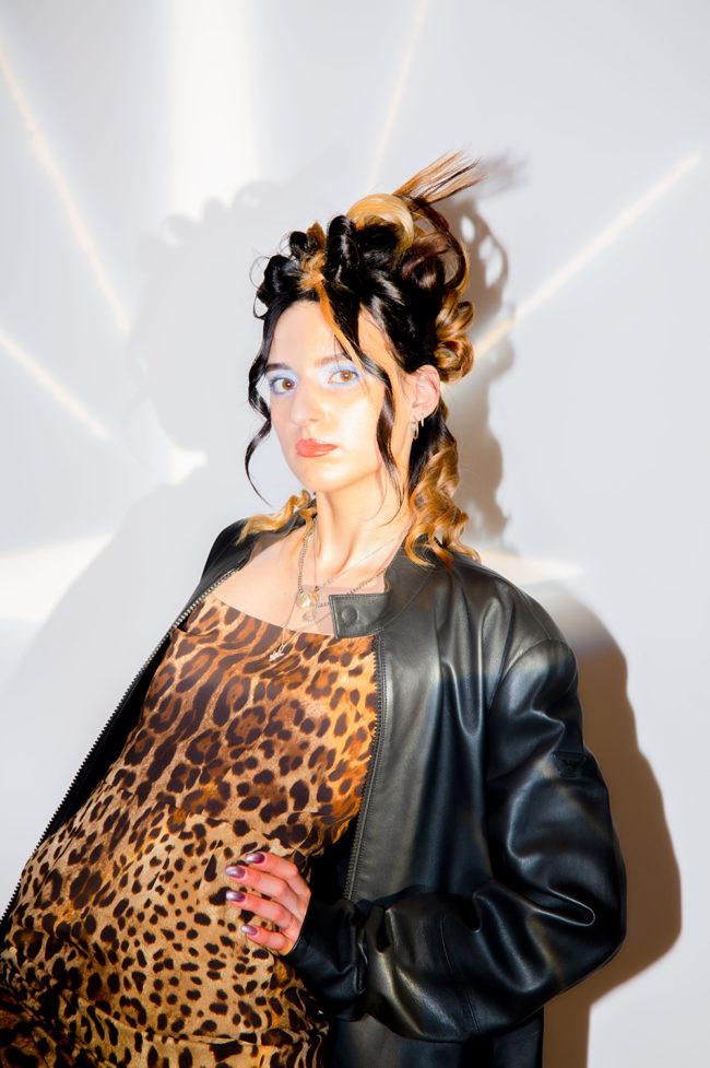 Sukienka Dolce&Gabbana, kurtka Philipp Plein