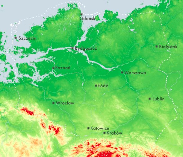 Gdańsk iSzczecin podwodą orazPoznań zdostępem domorza. Te mapy pokazują, co czeka nas zakilka pokoleń