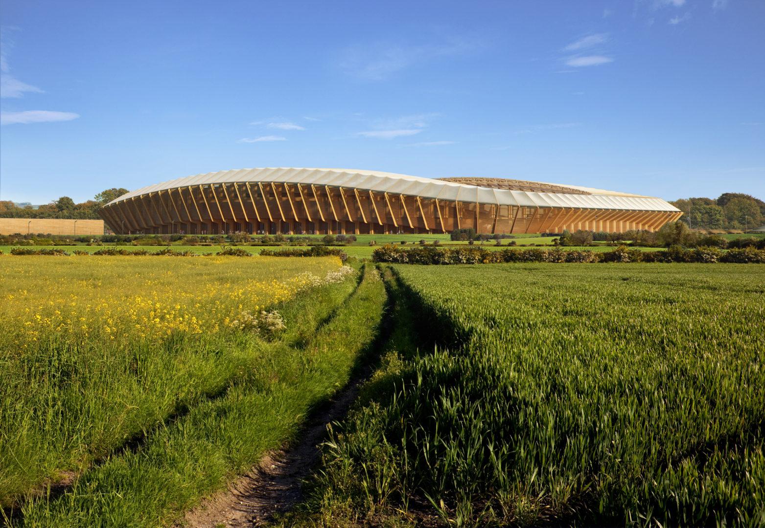 WAnglii powstanie pierwszy stadion naświecie zbudowany wyłącznie zdrewna