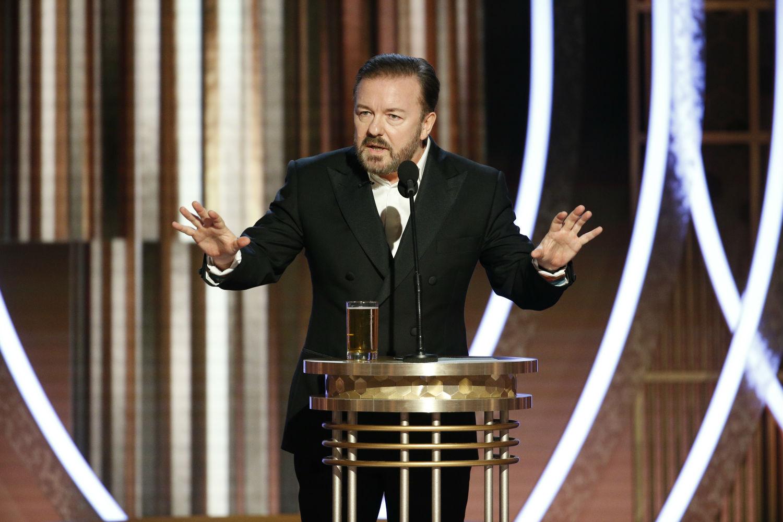 Złote Globy: Ricky Gervais wytknął gwiazdom wprost przymykanie oczu naczyny Harveya Weinsteina