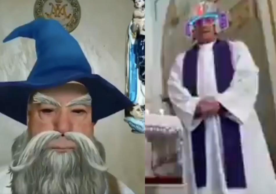 Włoscy księża wczasie streamów zmszy przypadkowo uruchamiają filtry