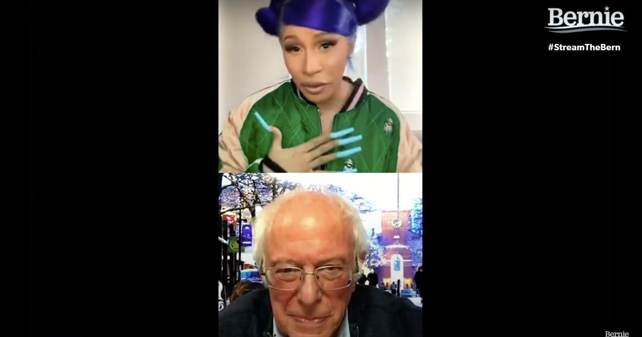 Cardi B iBernie Sanders rozmawiają okoronawirusie iwyborach wUSA