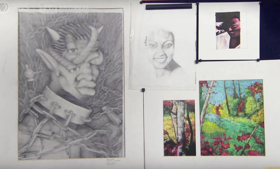 Grafiki 17-letniego Kanye Westa pojawiły się wprogramie oantykach