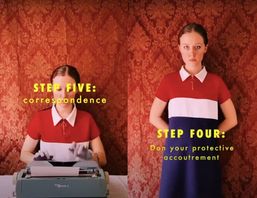 TikTokerka idealnie sparodiowała styl Wesa Andersona wswoim instruktażowym wideo