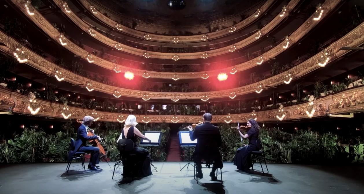 Opera wBarcelonie wróciła doaktywności koncertem wyłącznie dla roślin