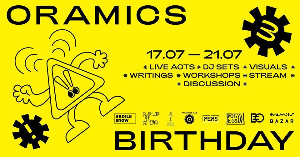 Trzecie urodziny Oramics tointernetowy festiwal zprawdziwego zdarzenia. Tu wszystkie iwszyscy mają głos
