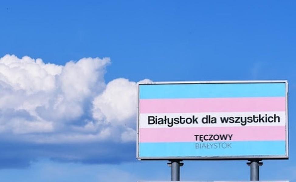"""""""Tęczowy Białystok"""": Rok poataku namarsz, miasto wypełniły równościowe billboardy"""