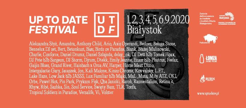 Up toDate ogłasza pełny line-up. Festiwal odbędzie się tam, gdzie zawsze