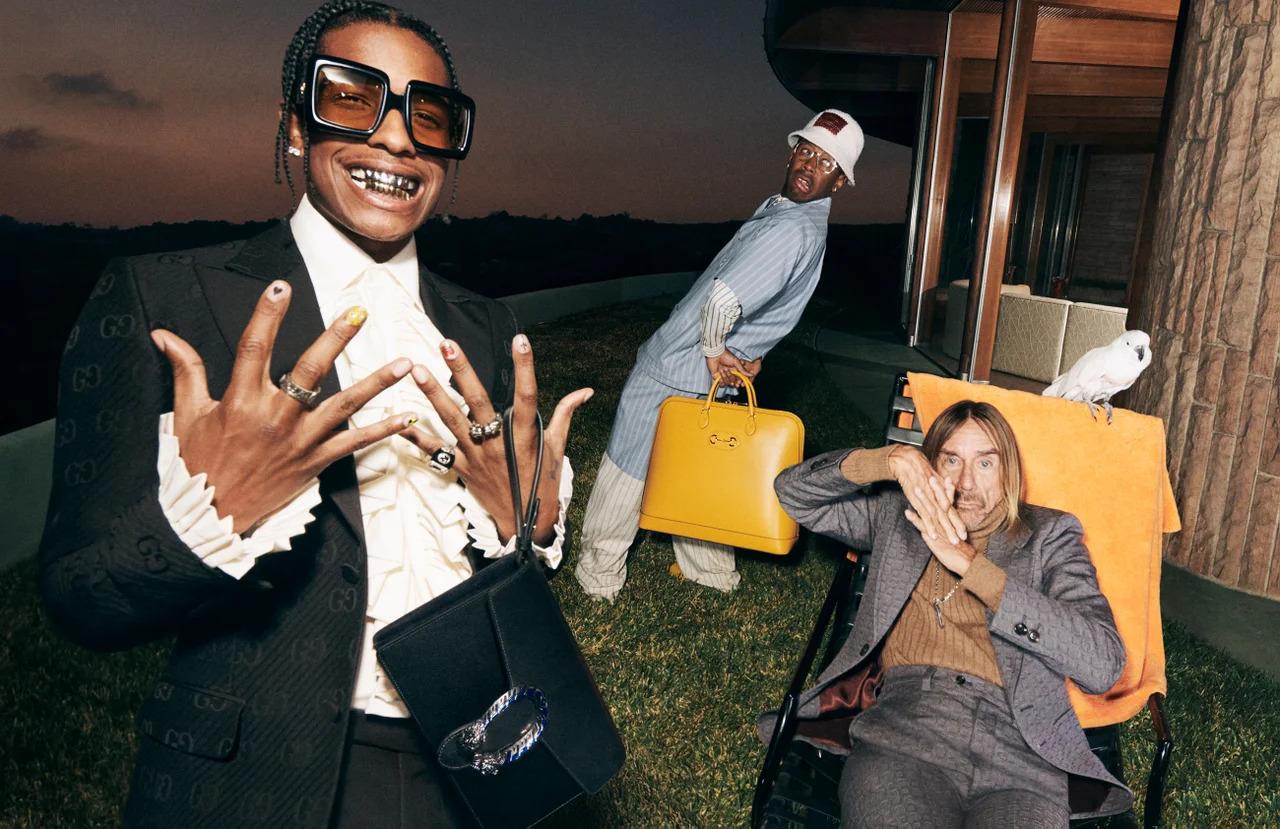 Iggy Pop, A$AP Rocky iTyler, the Creator razem wnowej kampanii Gucci