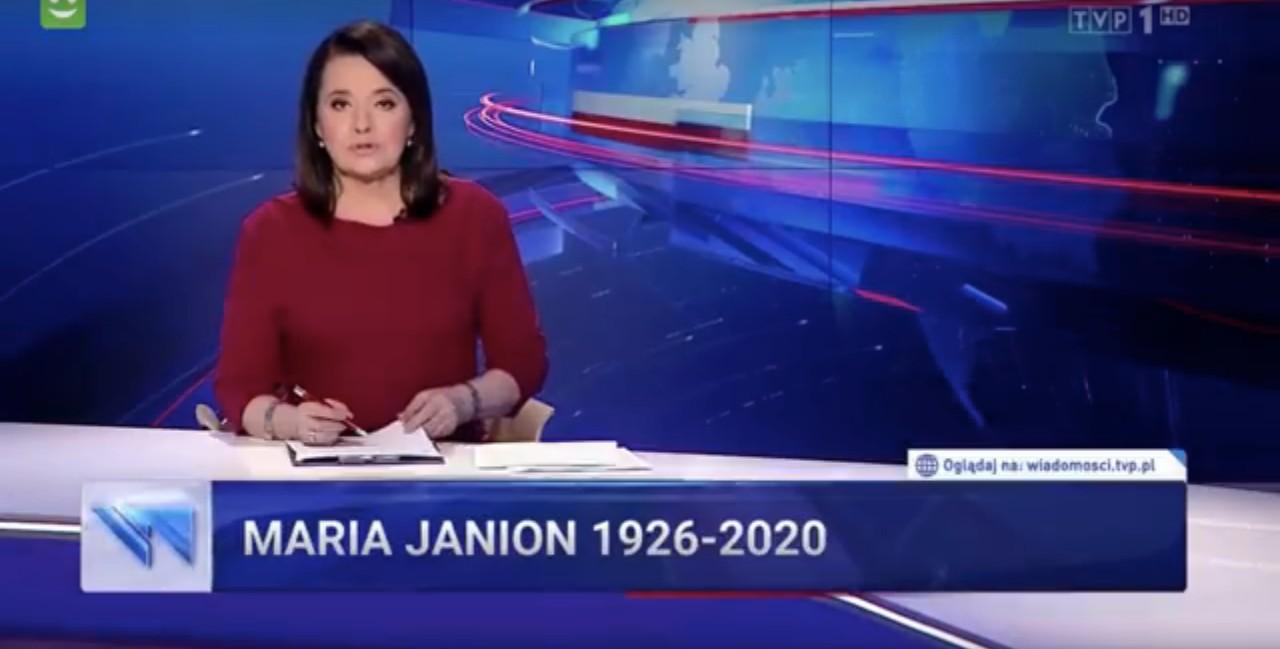 """Jak """"Wiadomości"""" TVP pożegnały prof.Marię Janion? Wswoim stylu"""