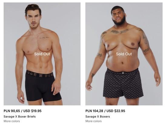 Fenty Rihanny promuje body diversity także wmęskiej kolekcji