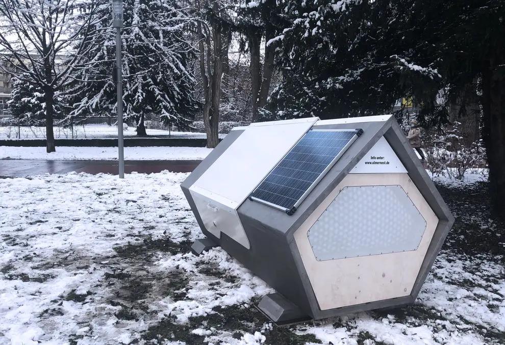 WNiemczech pojawiły się nowoczesne kabiny chroniące bezdomnych przedzimnem