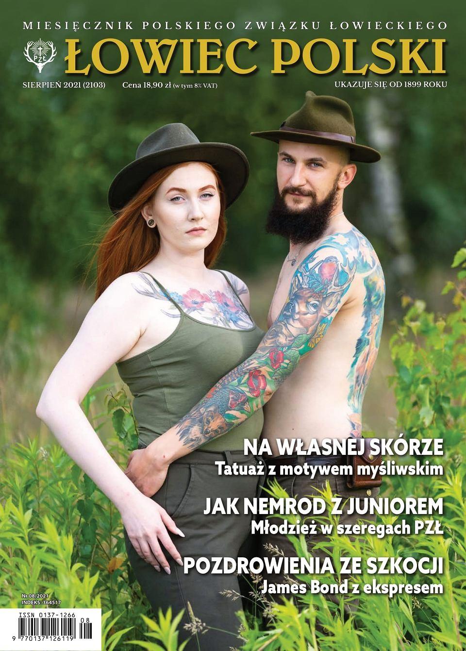 Kontrowersyjna okładka Łowca Polskiego. Problemem tatuaże, aniezabijanie zwierząt