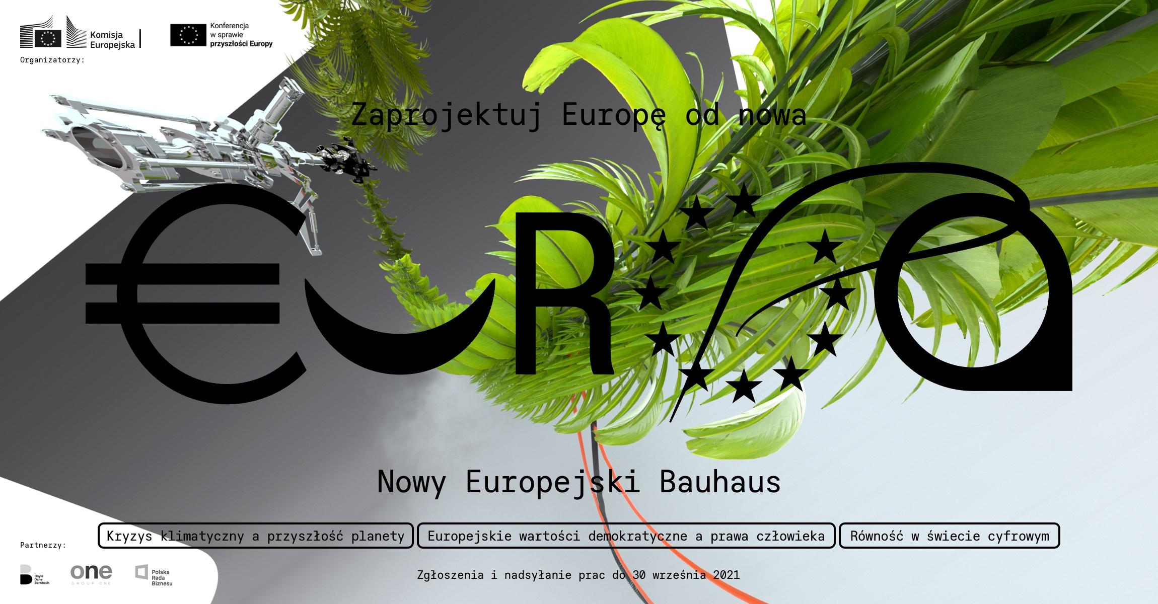 """Przypominamy – trwa konkurs """"Zaprojektuj Europę odnowa – Nowy Europejski Bauhaus"""""""